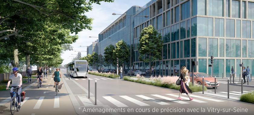 Perspective du Quai Jules Guesde à Vitry-sur-Seine ©Richez Associés