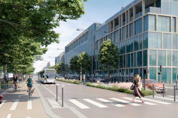 Perspective du Quai Jules Guesde à Vitry-sur-Seine