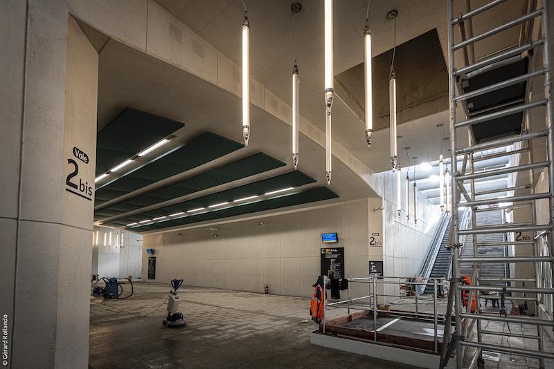 Le passage souterrain la veille de son ouverture au public. Retour ligne manuel